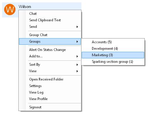 Output Messenger Custom Groups