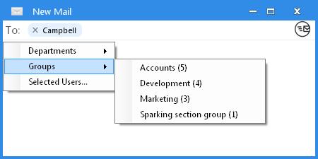 Output Messenger Custom Group Mail