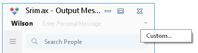 Output Messenger Custom Status Custom