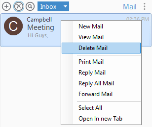 Output Messenger Delete Mail