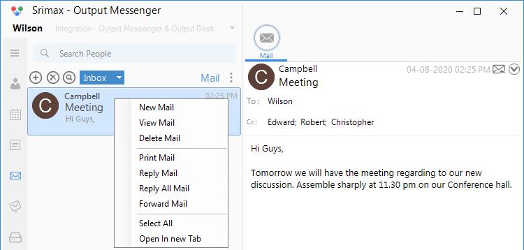 instant messenger Internal Mail