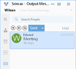 Output Messenger Sent items