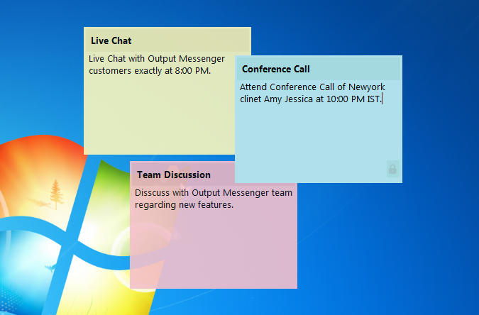 Output Messenger Sticky Notes