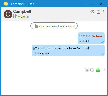 Output Messenger Enable Off-the-record