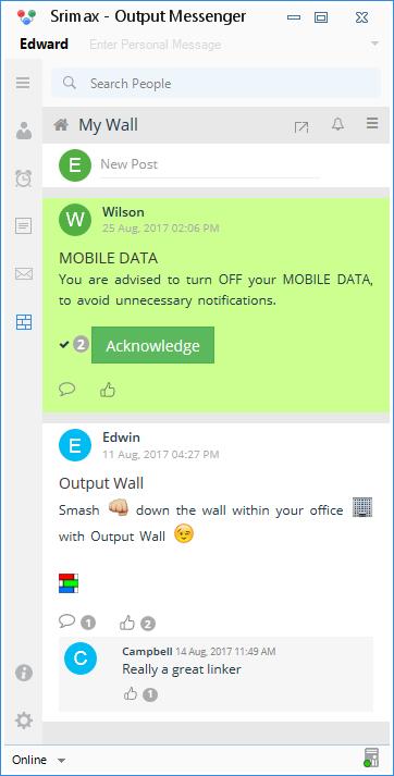 OutputWall OutputMessenger