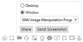 Output Messenger Window Share