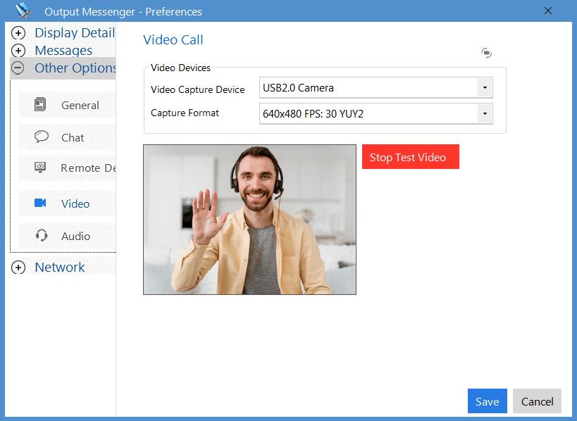 Output Messenger Video Call