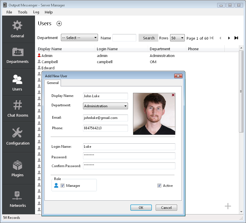 Output Messenger Add Users