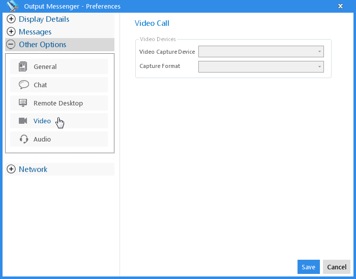Output Messenger Video Chat