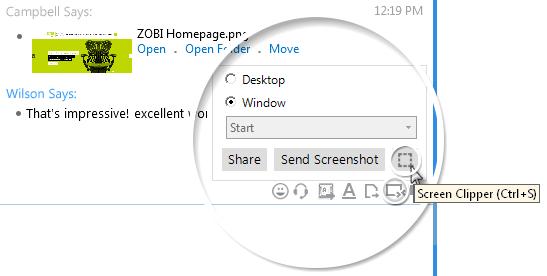 Instant Messenger Screen Clipper