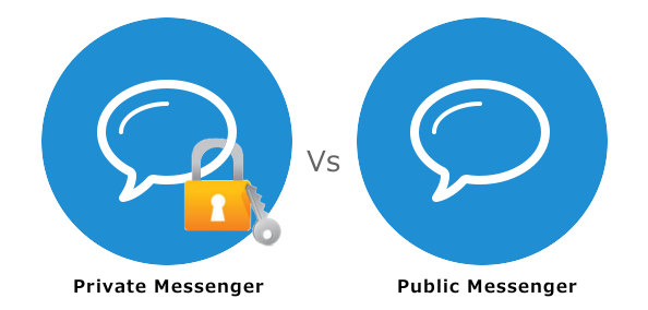Private Messenger versus Public Messenger