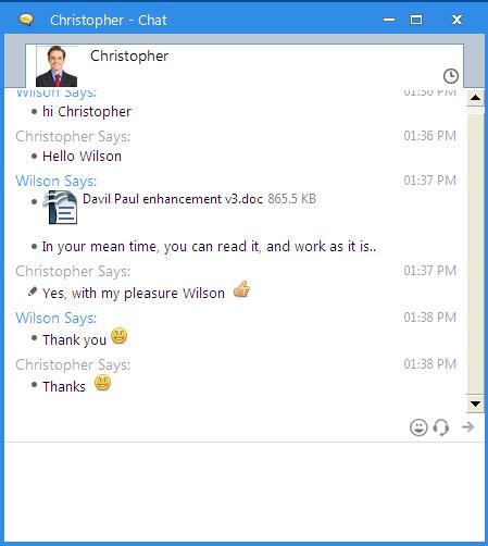 Instant Message Chat : Output messenger instant messaging srimax softwares