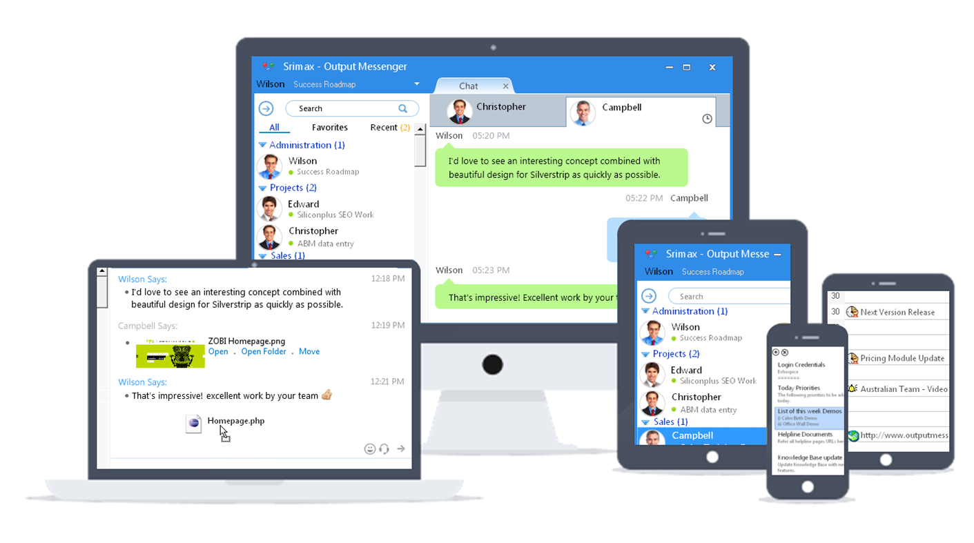 Output Messenger New Features for Better Team Collaboration