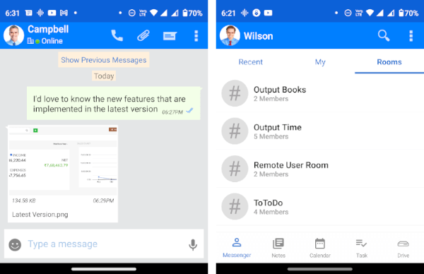 Output Messenger|Office Chat Software|Features